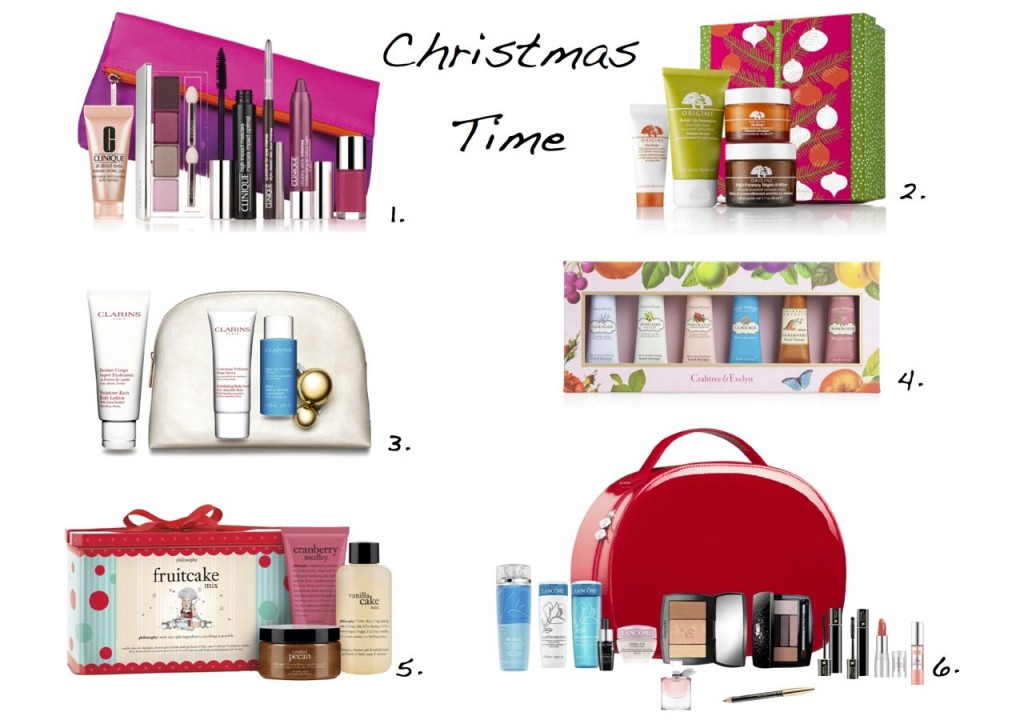 Christmas Time Christmas beauty sets Clarins Clinique Lancome Origins Philosophy Origins Christmas set