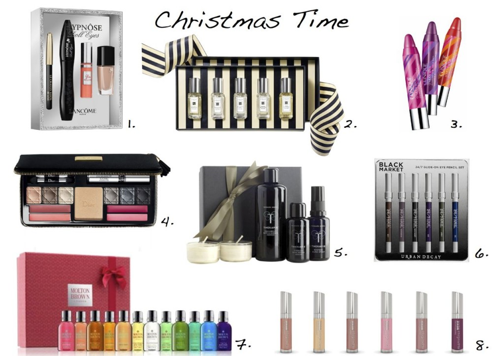 Christmas beauty gift sets Lancome Hypnose mascara Jo Malone Urban Decay Dior Clinique Roques ONeil Therapie Molton Brown Bare Minerals Style Barista
