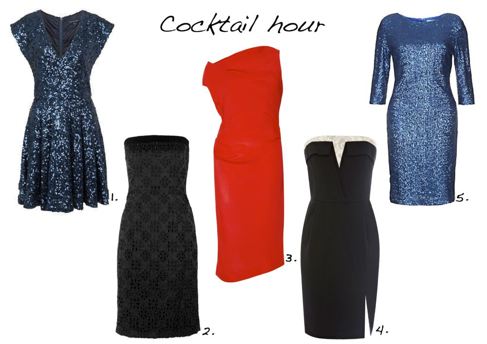 Cocktail dress .party dresses French Connection Vivienne Westwood Warehouse New Look Alice by Temperley Style Barista