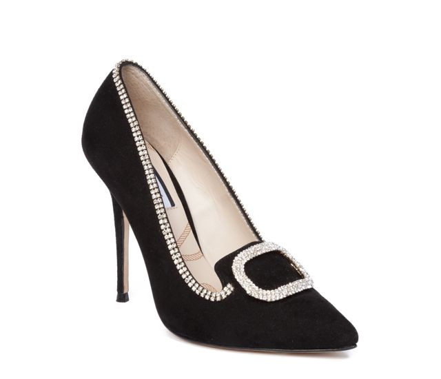Lucy Choi London Diana Black Suede