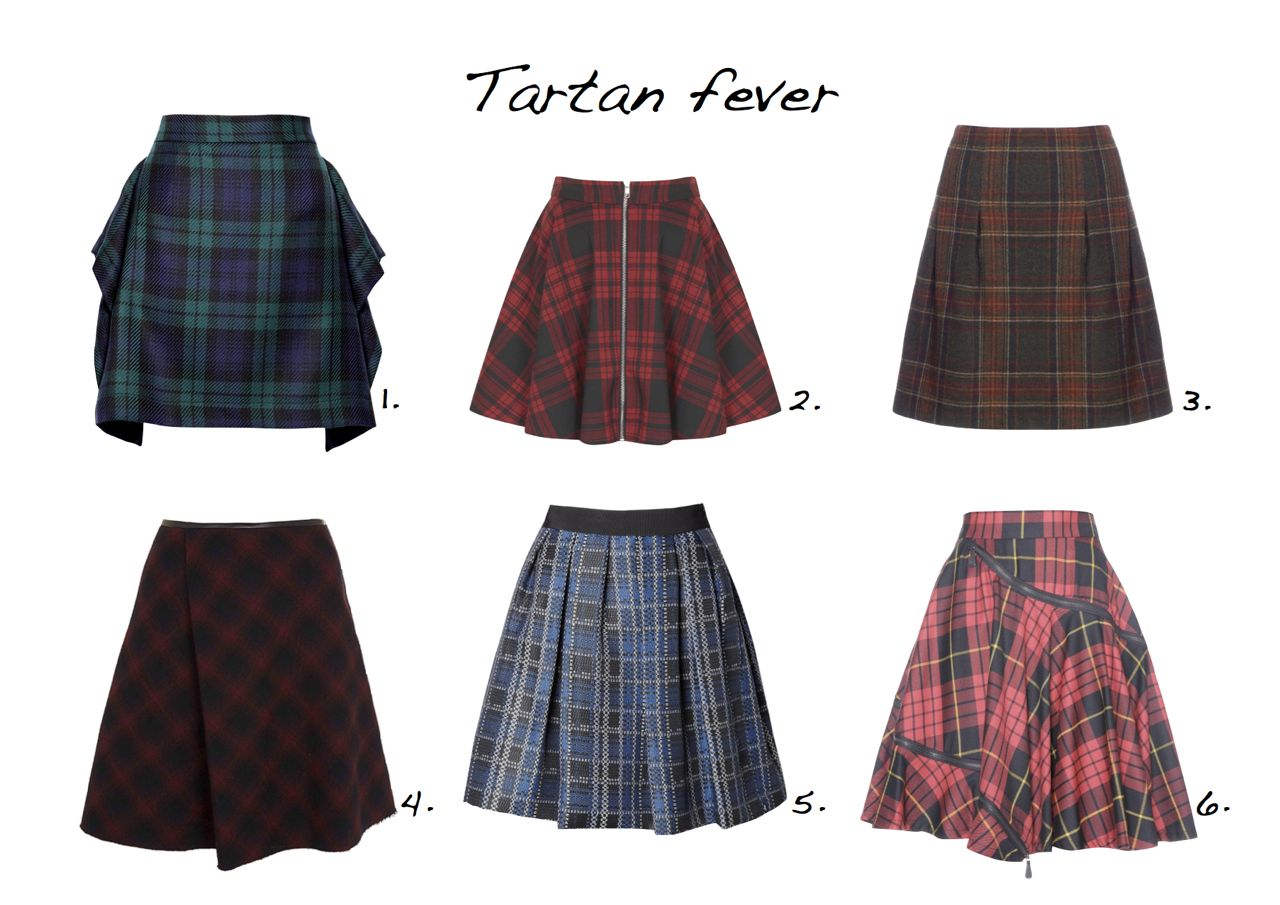 7a542c5c87 Tartan skirts plaid skirt Vivienne Westwood Anglomania Jigsaw McQ Alexander  McQueen Oh My Love Sportmax Code