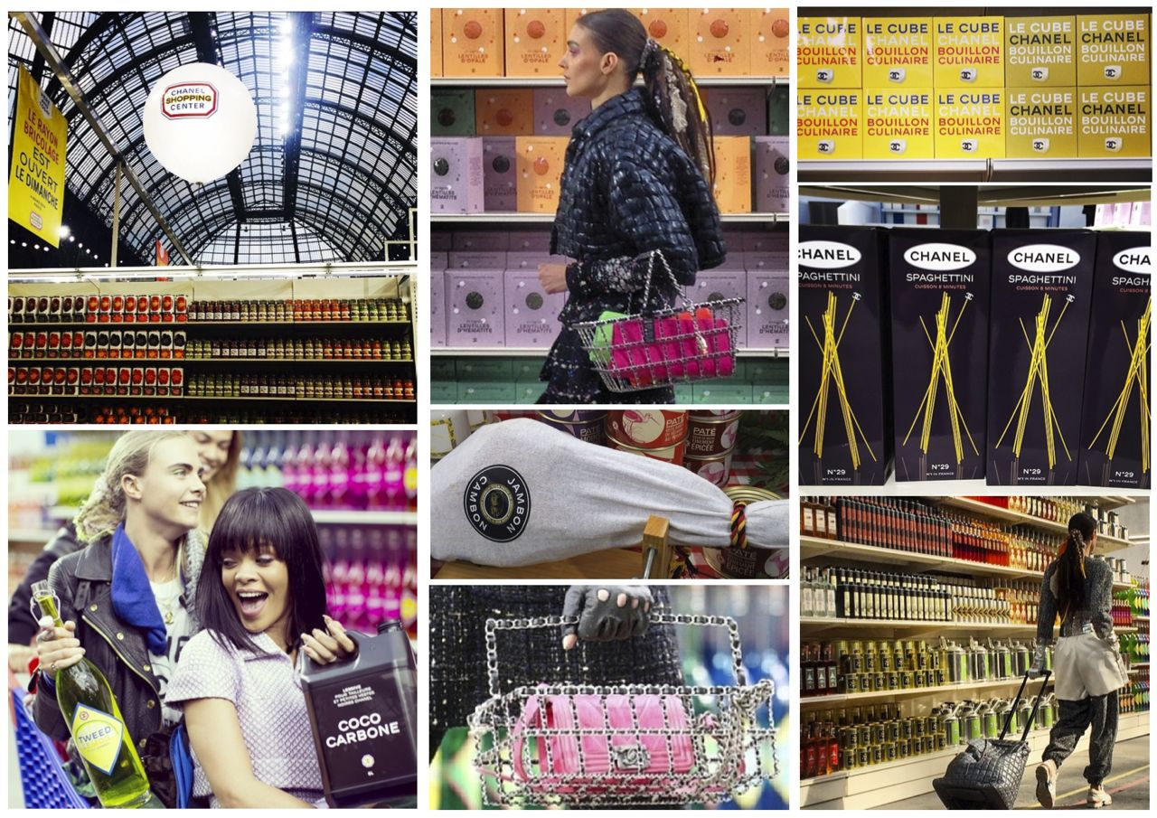 Chanel fashion show AW14 Chanel supermarket Chanel Instagram photos