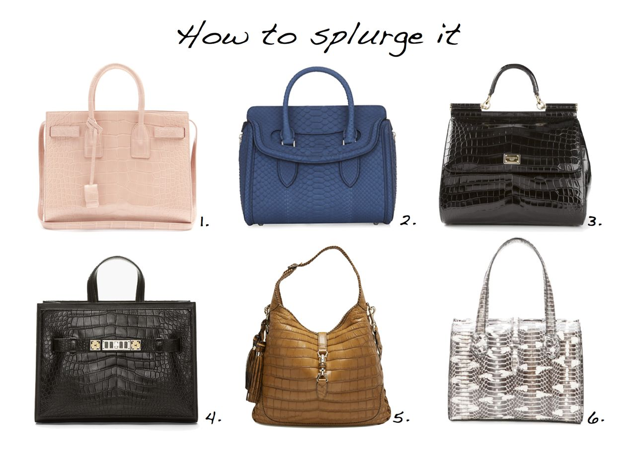 How To Splurge Expensive Designer Bags Saint Lau Alexander Mcqueen Dolce And Gabbana Gucci Bottega Veneta