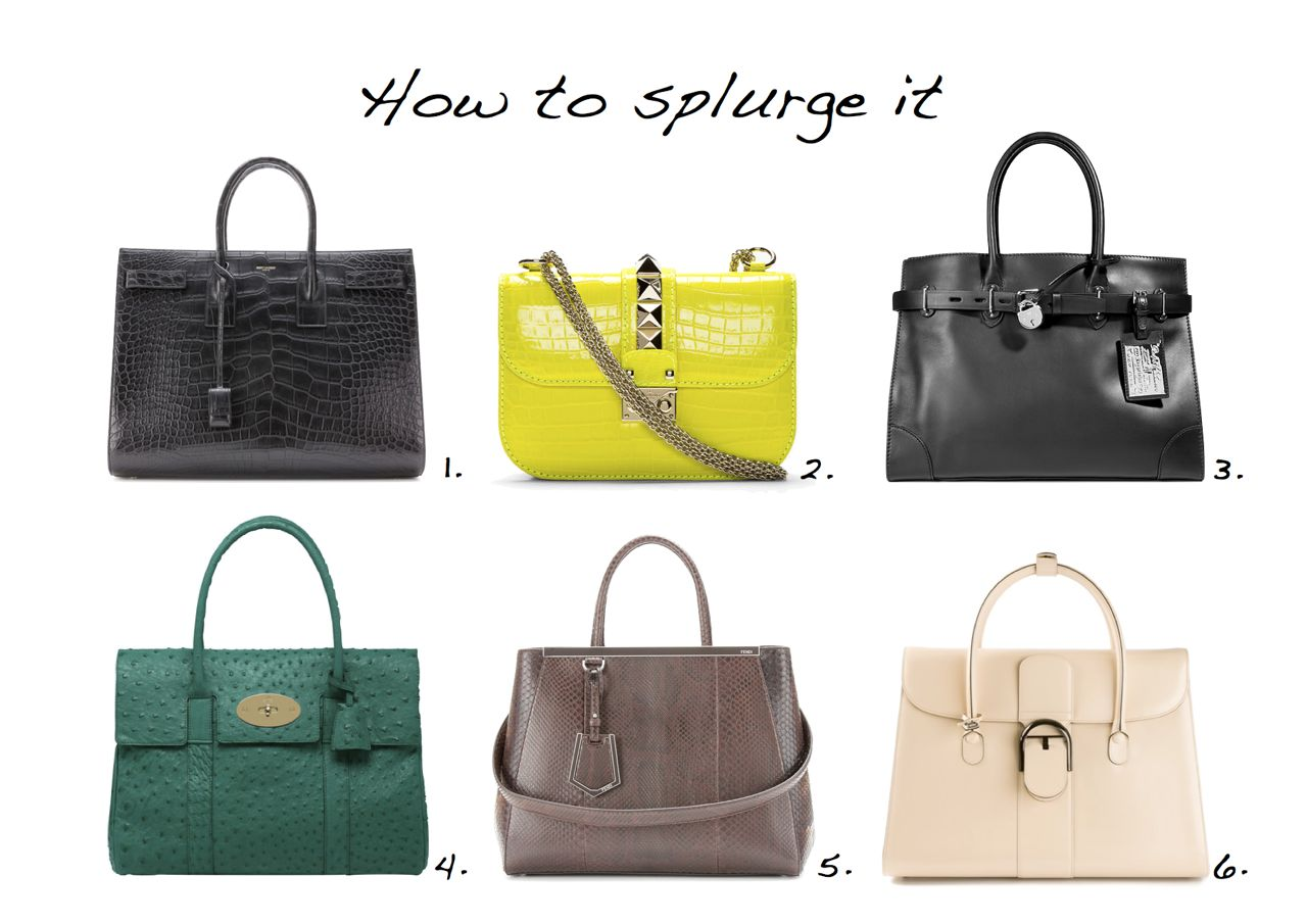 How To Splurge It Expensive Bags Yves Saint Lau Valentino Ralph Lauren Mulberry Fendi Delveaux