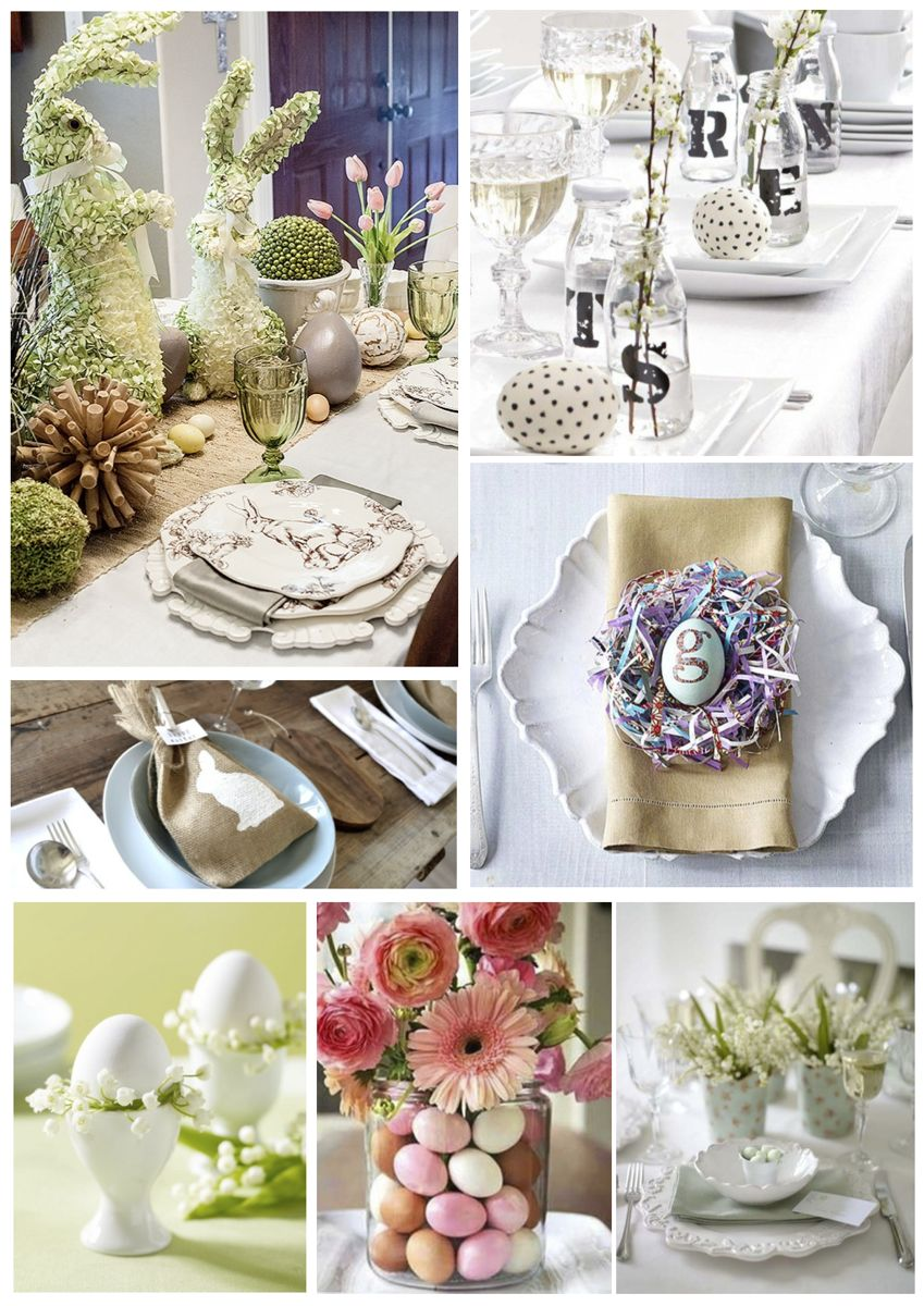 Photo dinner table ideas images inspiration 22 easter for Easter dinner table setting ideas
