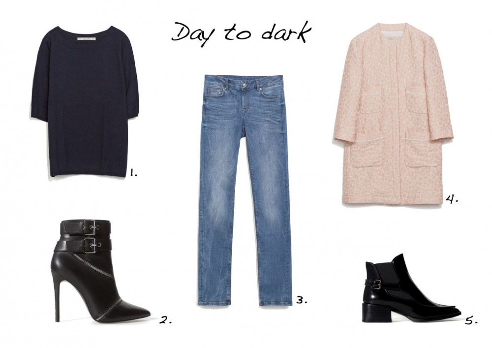 Steal Of The Day Zara sale edit Zara Leather Anke Boot With Strap Zara Jacquard Coat With Pockets Zara Straight Leg Jeans Zara Oversize Boat Neck Sweater Zara High Heel Leather Ankle Boot With Zips