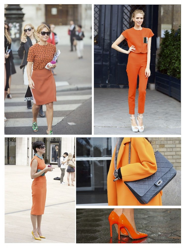 Style Barista Orange is the new black street style orange outfits