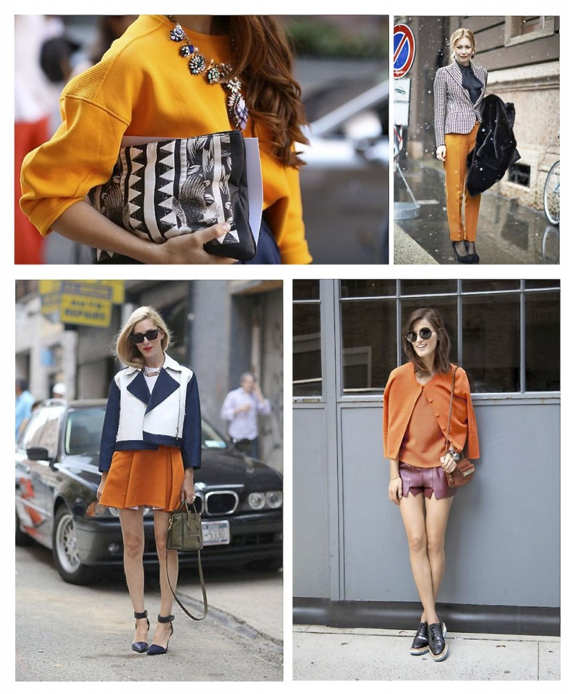 Style Barista street style orange outfit orange is the new black