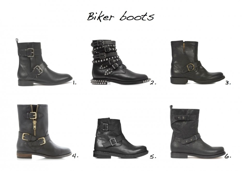 Biker boots Topshop Animal Biker Boots Dune Robbin Side Zip and Buckle Trim Biker Boots Fiorentini + Baker Black Buckled Leather Ankle Boots Proenza Schouler Black Leather Biker Boots Saint Laurent Rangers Studded Punk Leather Boots