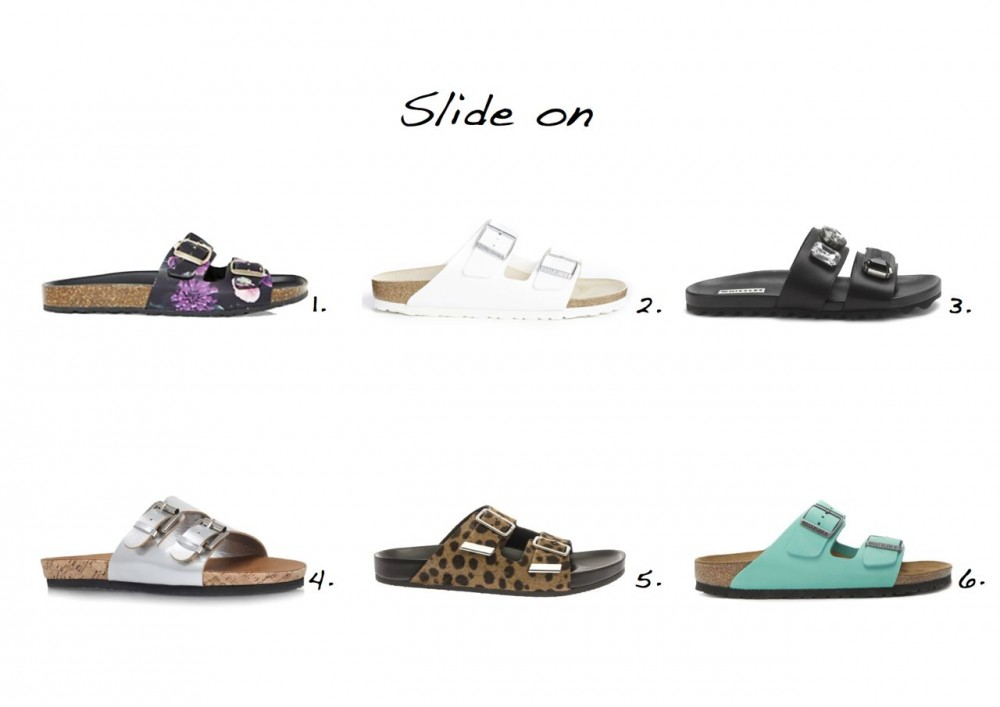 Sliders sandals Givenchy Leopard Calf-Hair Slides Carvela Khris Flat Sandals Whistles Maddy Jewelled Band Poolside Birkenstock Arizona White Flat Sandals New Look Black Leather Double Strap Floral Print Sliders