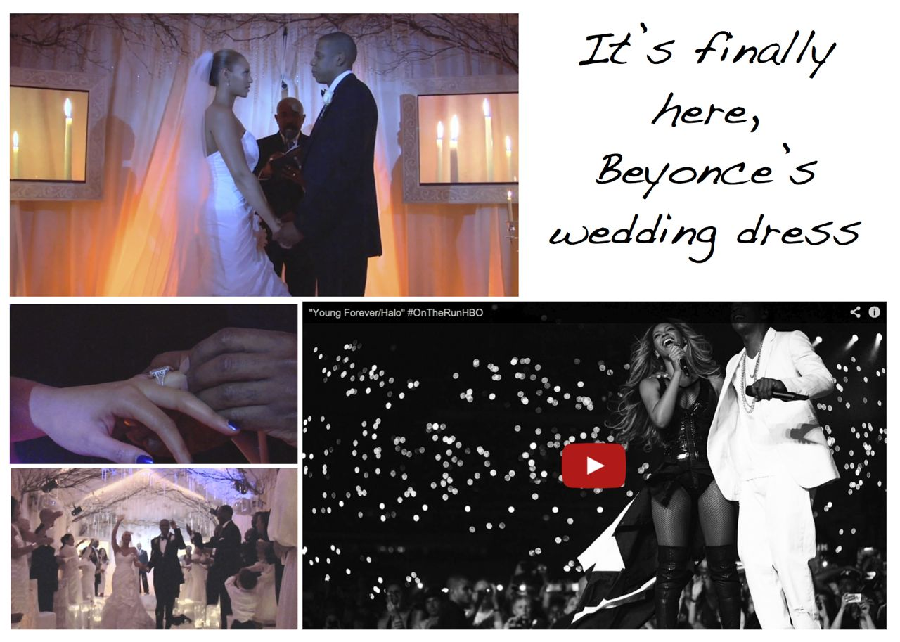 Watch The Video Of Beyonce S Wedding Dress Style Barista