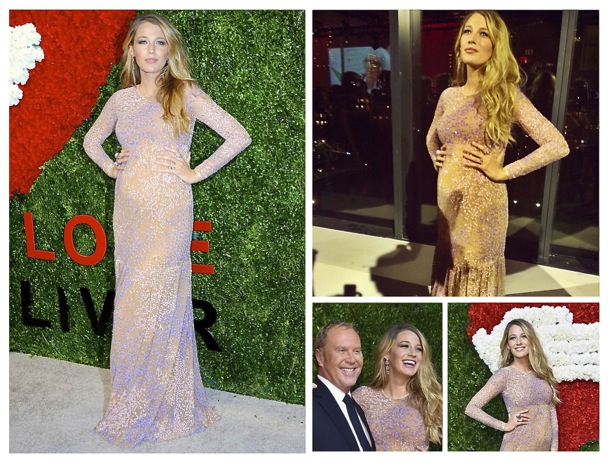 Blake Lively red carpet pregnancy style Michael Kors