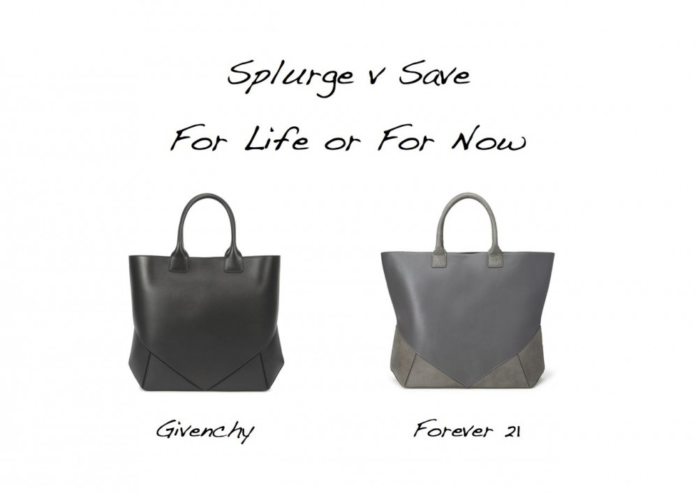 Spluge versus Save Givenchy Easy Tote look for less Forever 21 Givenchy Easy Tote lookalike