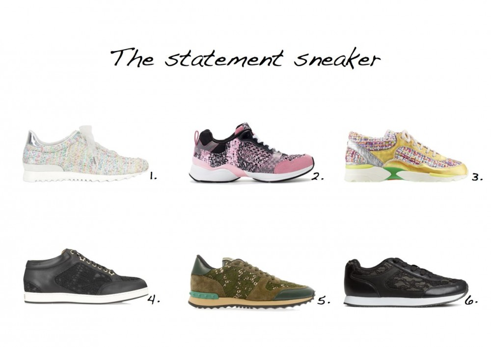 Style Barista sneakers Chanel sneakers Chanel trainers Casadei Limited Edition Tweed Boucle Sneakers Zara Combined Trainers Chanel Tweed and Lambskin Trainers H&M Sneakers Valentino Rockstud Lace and Leather Trainers