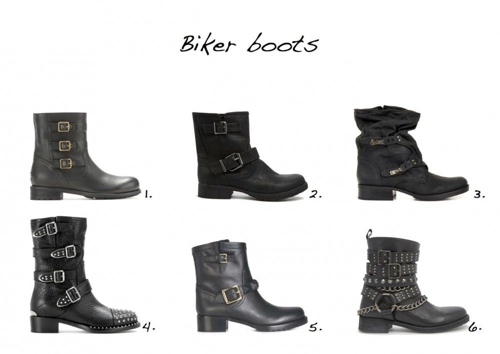 Biker boots New Look Daggers Flat Ankle Boots ASOS All Of A Sudden Leather Biker Boots Jimmy Choo Dancy Leather Biker Boots Miu Miu Studded Leather Biker Boots Sam Edelman Leather Boots Valentino Buckled Biker Boot