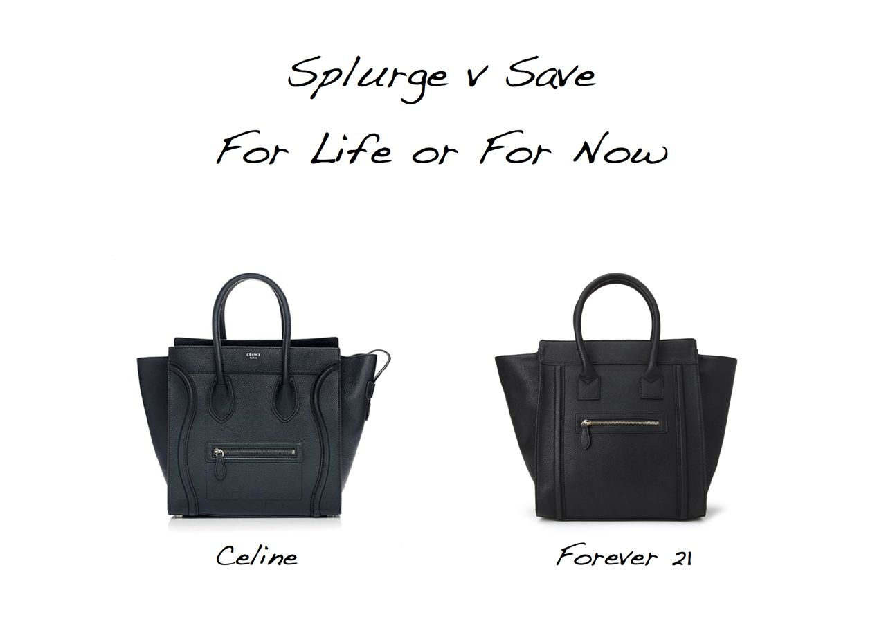 where to buy authentic celine bags - Splurge Versus Save: Celine Luggage Tote Versus Forever 21 - Style ...