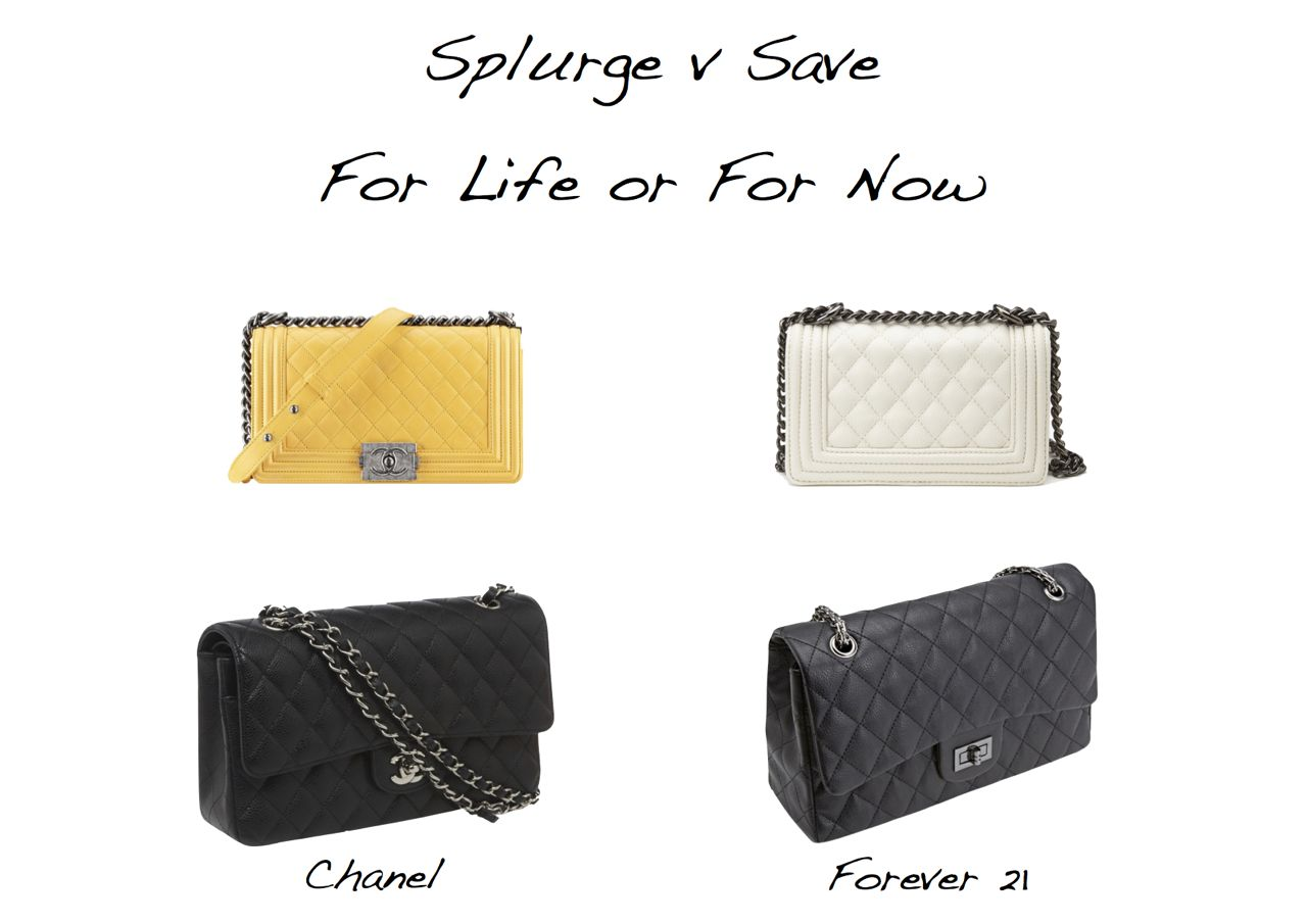 new ysl cabas chyc - Splurge Versus Save - Chanel Versus Forever 21 - Style Barista