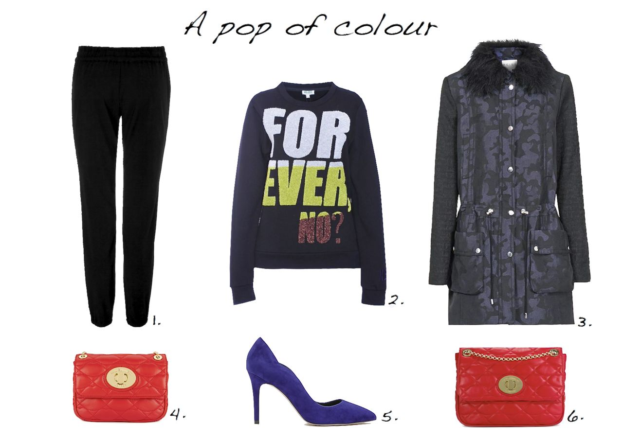 Kenzo Forever Embroidered Sweater Steffen Schraut Paris Relax Pants Reiss Camouflage Print Parka LuLu Guinness Red Quilted Lips Small Eyelet Annabelle  Reiss Harper Scallop Detail Court Shoes LuLu Guinness Red Quilted Lips Large Eyelet Annabelle