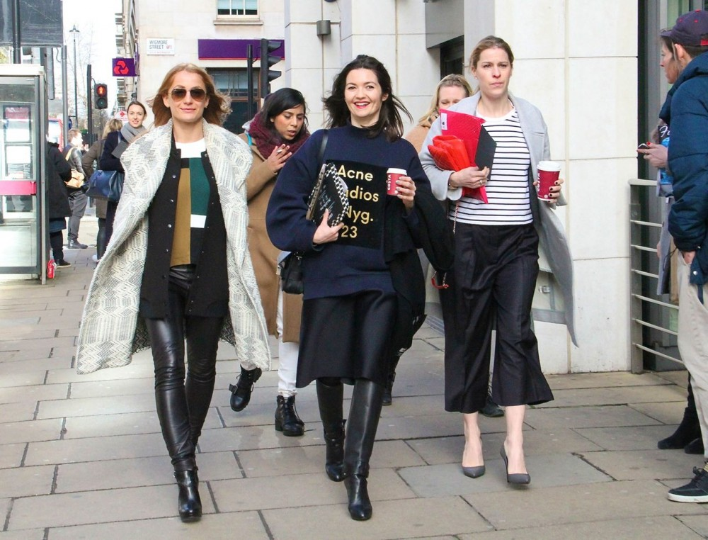 London Fashion Week Street Style Acne Sweater Style Barista