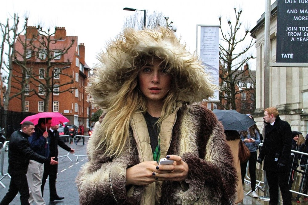 London Fashion Week Street Style Fur coat Style Barista (1)
