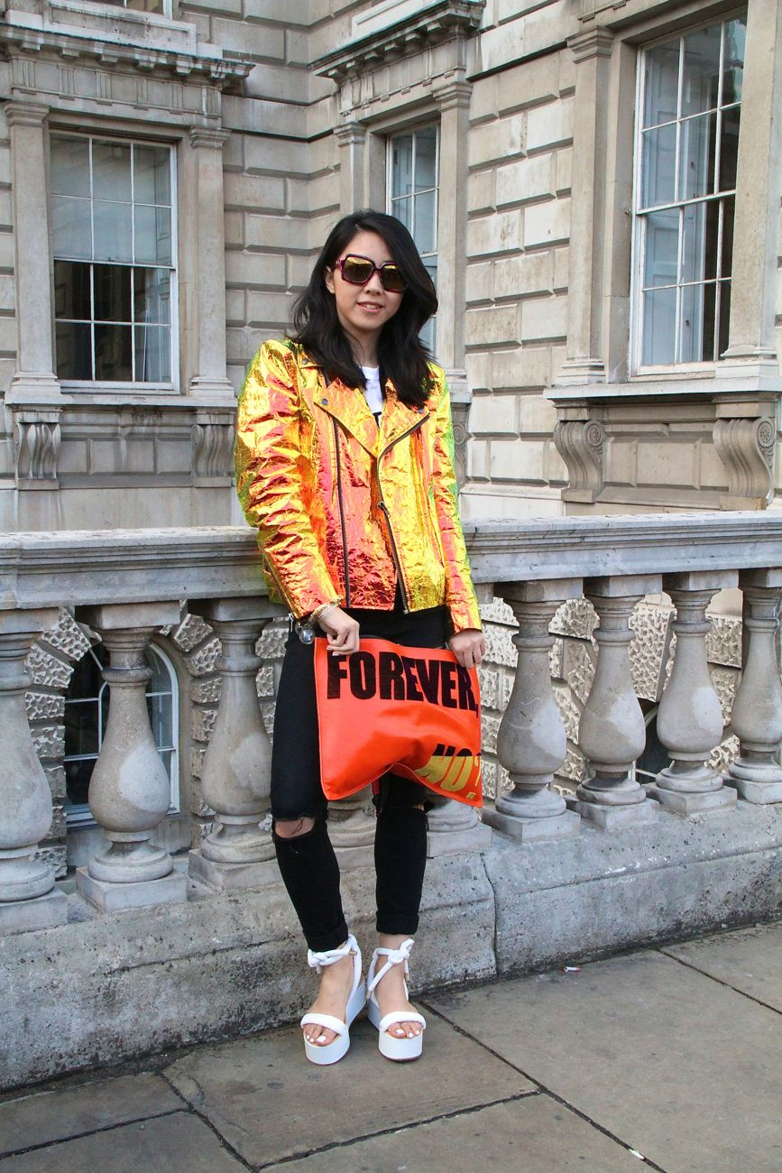 London Fashion Week Street Style Forever No clutch Style Barista