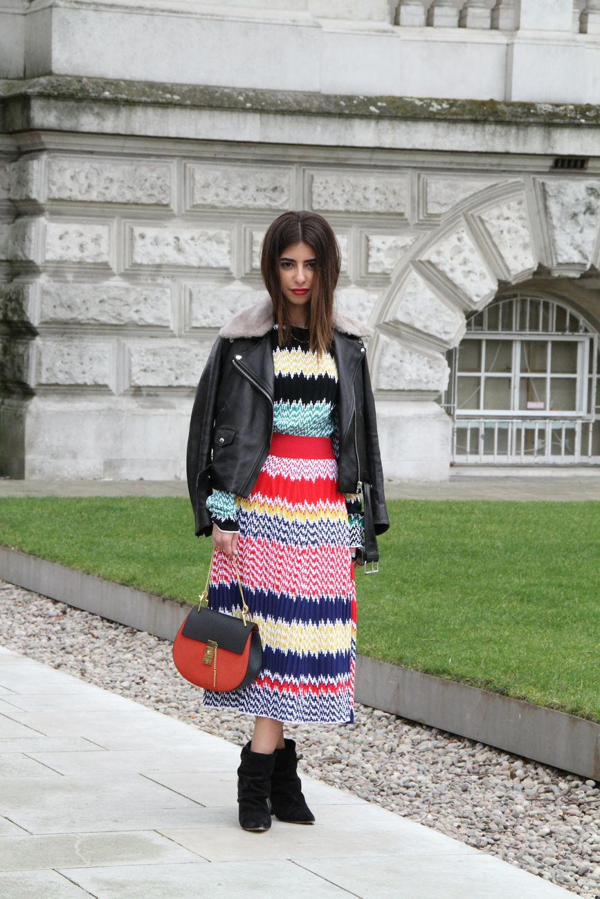 London Fashion Week Street Style Missoni dress Style Barista