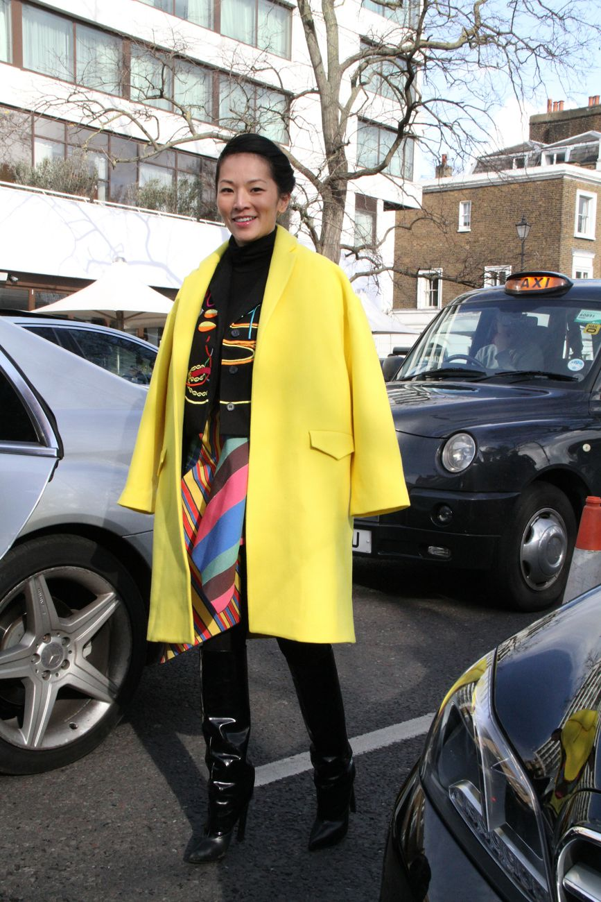 Tina Leung London Fashion Week Style Barista