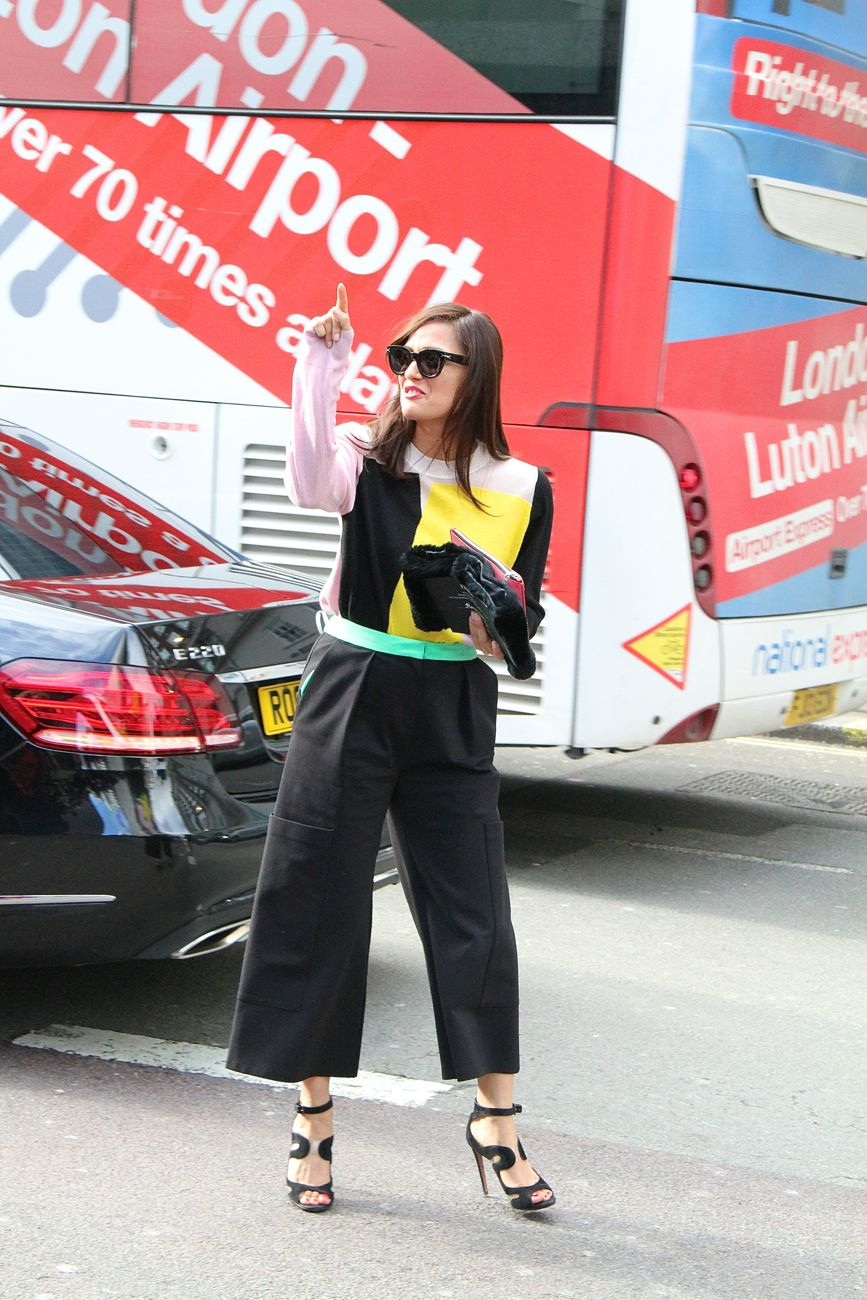 London Fashion Week Street Style colour block sweater Style Barista