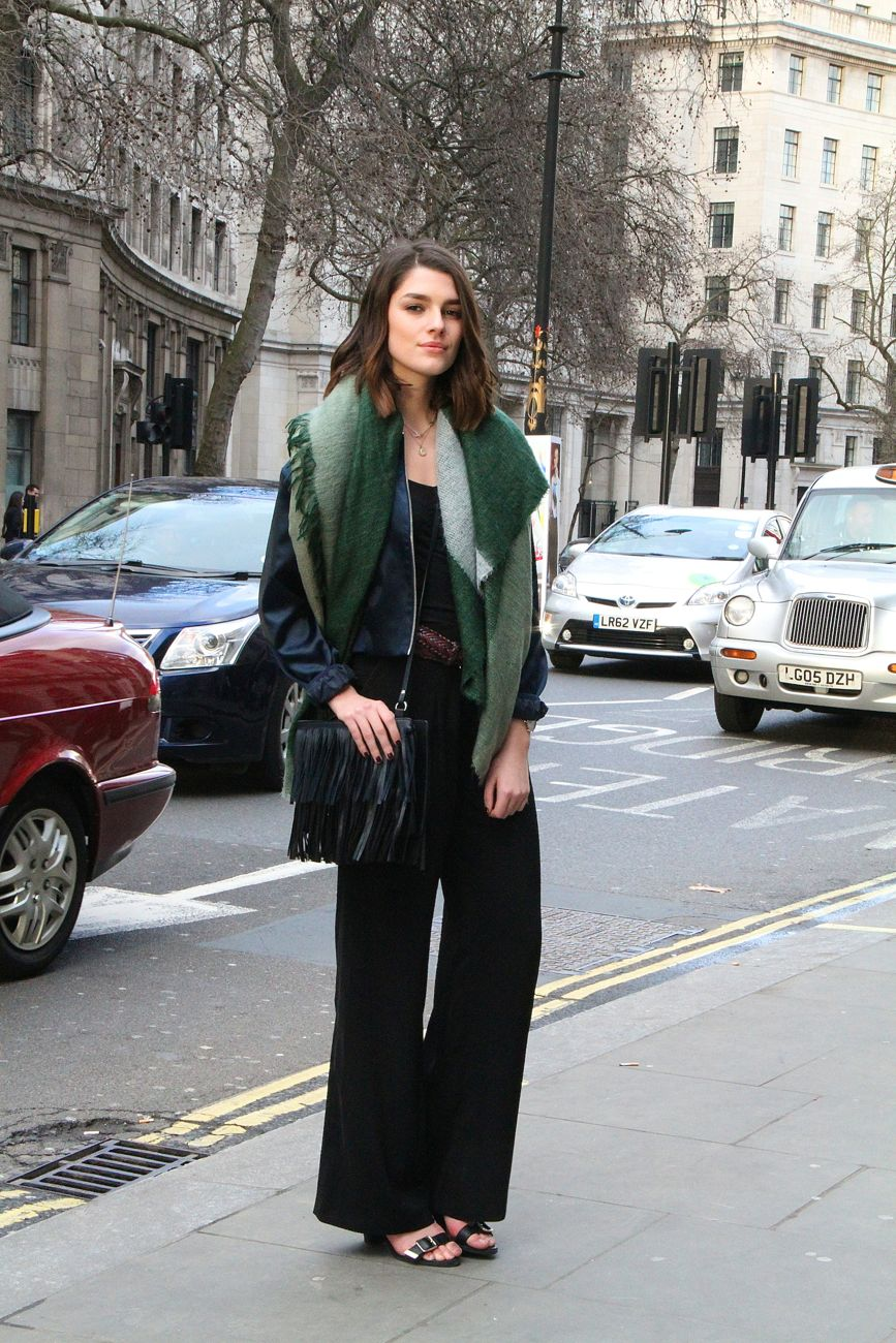 London Fashion Week Street Style fringe bag Style Barista