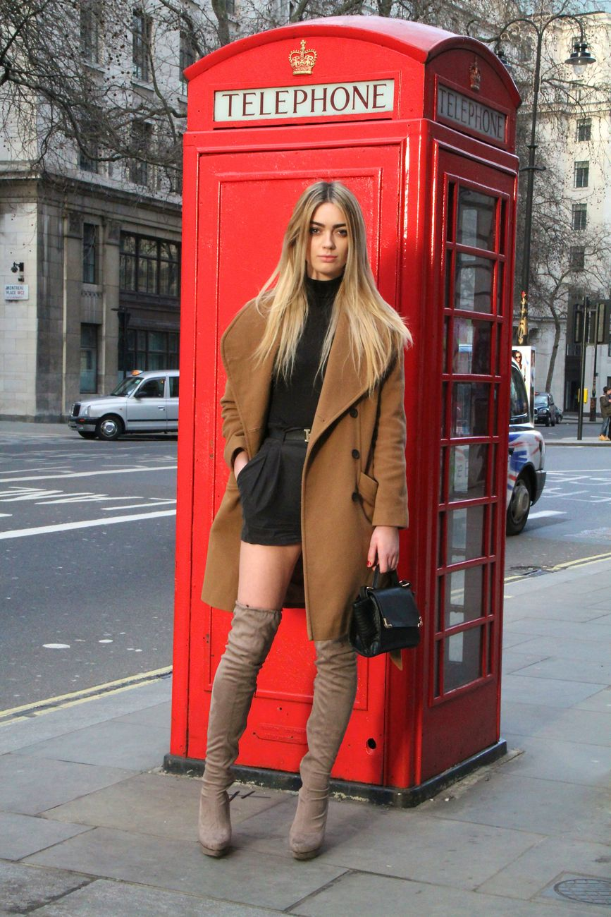 London Fashion Week Street Style thigh high boots Style Barista
