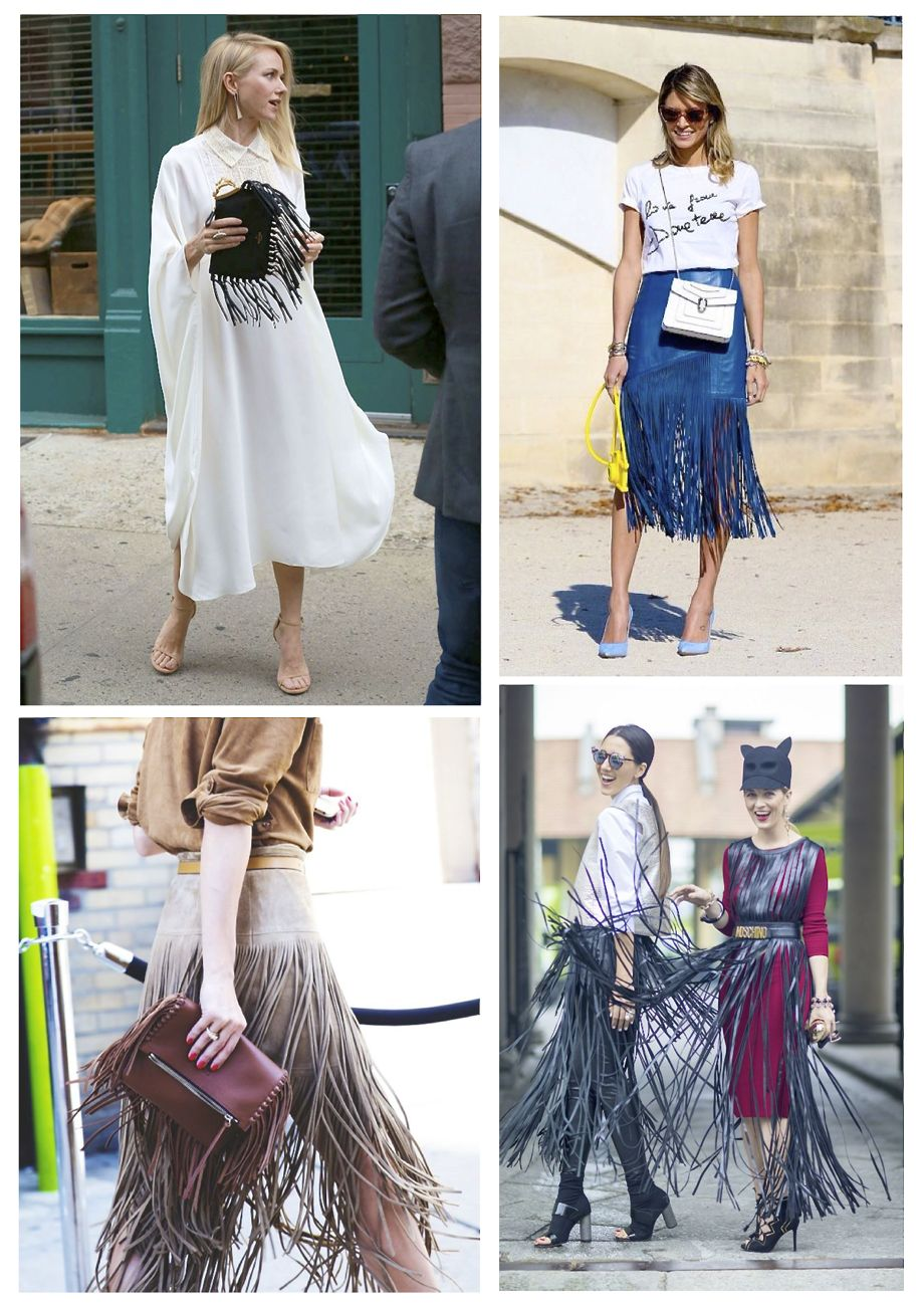 how to wear fringe street style