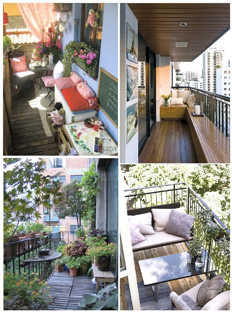 13 small balcony design ideas style barista for Outdoor balcony decorating ideas