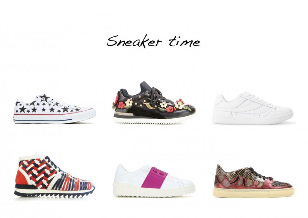 sneakers Converse Chuck Taylor Ox Printed Sneakers Dries van Noten Embellished Leather Sneakers Valentino Open Leather Sneakers Balmain Mawi Braided-Leather High-Top Trainers