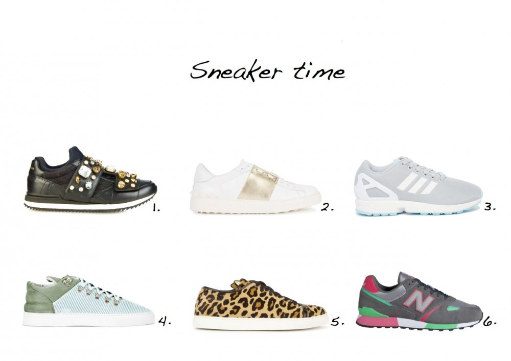 sneakers-edit Dolce & Gabbana Stone-Embellished Velcro-Fastening Trainers Valentino White Leather Trainers