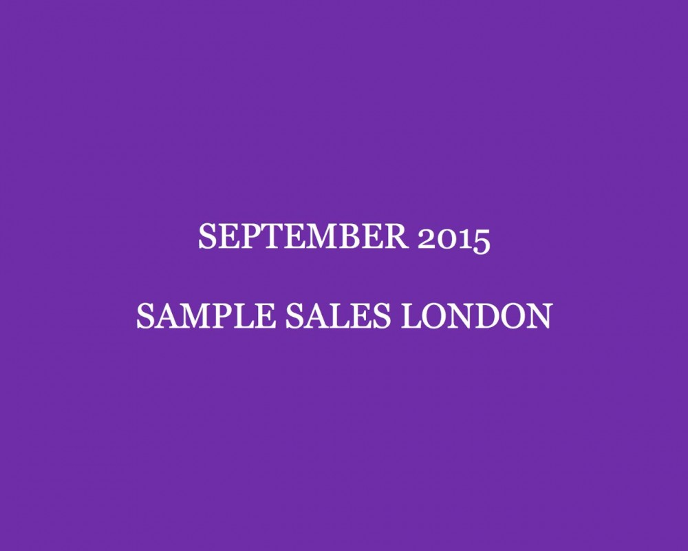 September 2015 Sample Sales London Style Barista London Sample Sales