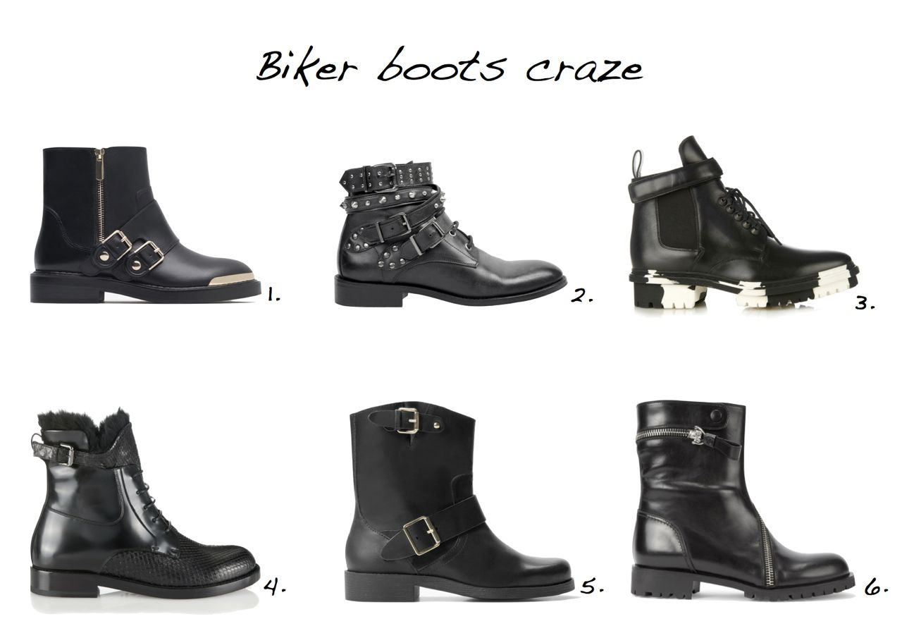 biker-boots Zara Leather Booties With Metal Buckle And Toe Cap Hush Lace Up Studded Biker Boots Balenciaga Unit Leather Biker Ankle Boot Lanvin Python And Leather Fur-Trim Ankle Boots