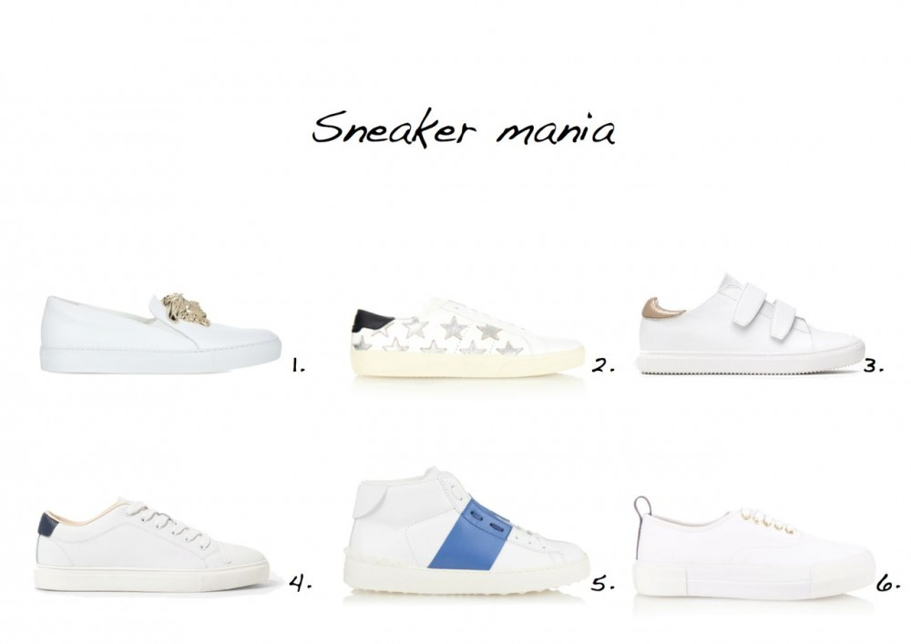 sneakers Versace Medusa Paten-Leather Trainers Saint Laurent Star-Embellished Leather Trainers Zara Plimsolls With Hook And Loop Detail Mango Lace-Up Leather Sneakers