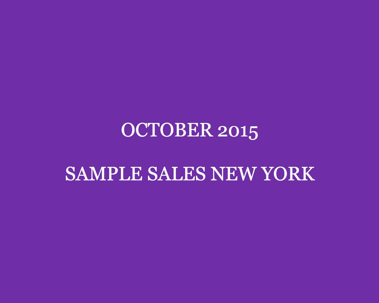 October Sample Sales New York Style Barista New York Sample Sales 2015