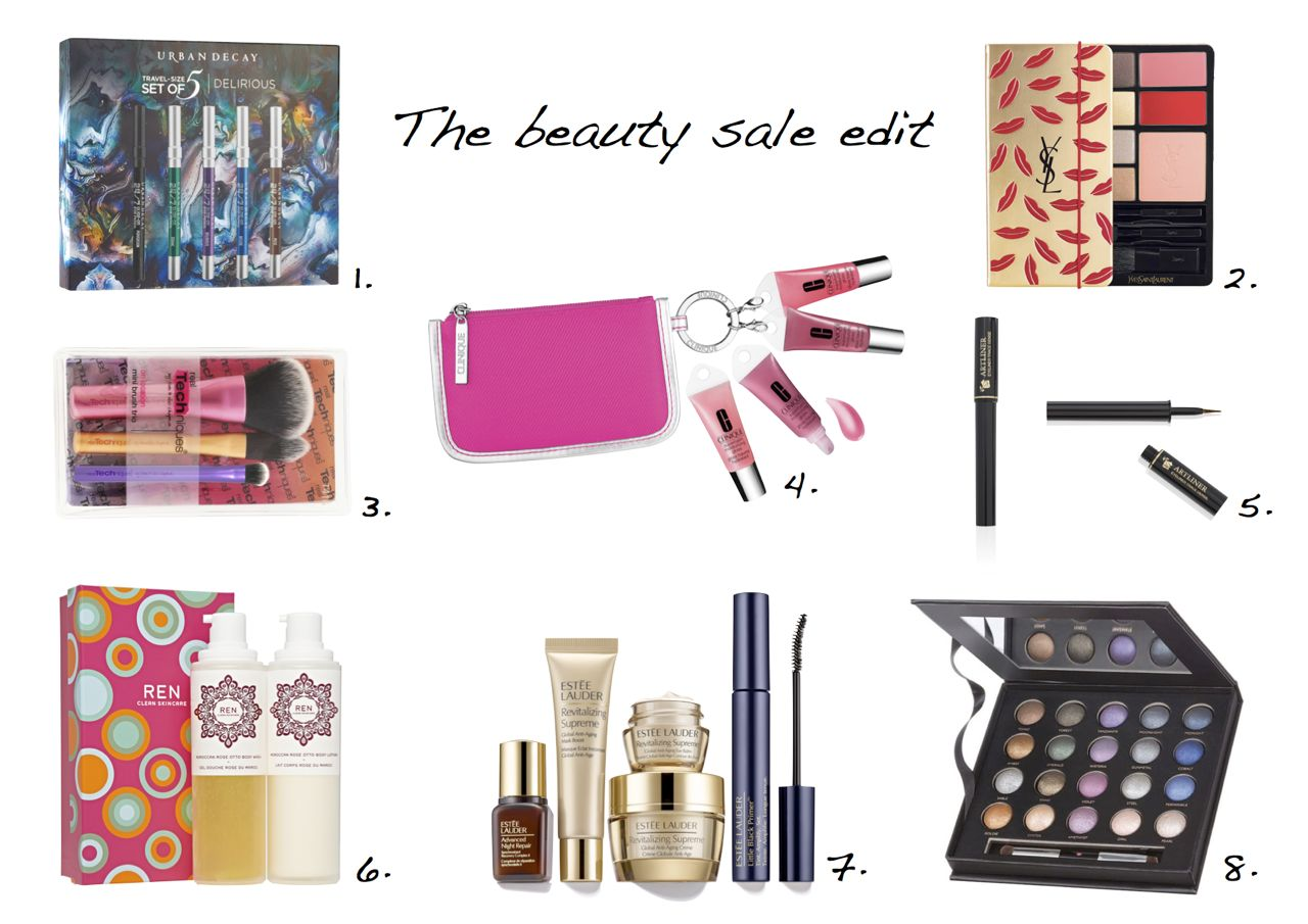 Laura Geller Beauty 20 Shades of Shadow Estee Lauder The Ultimate Starter Set REN Moroccan Rose Duo Gift Set Clinique Gloss and Go Kisses Gift Set Urban Decay 24:7 Travel Size Pencils