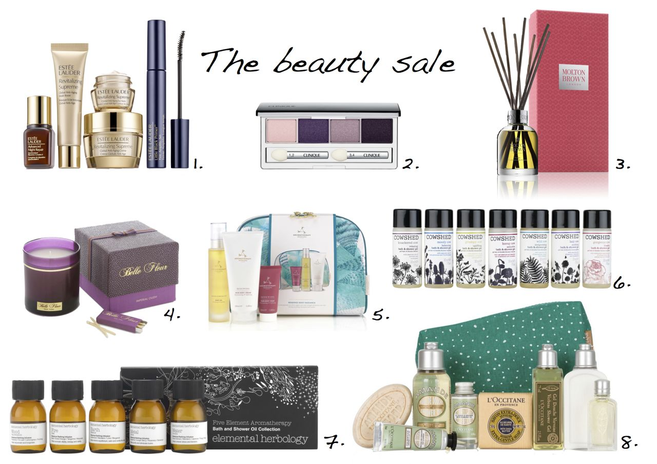 Christmas beauty gift sets Estee Lauder The Ultimate Starter Set Belle Fleur Imperial Oudh Candle Cowshed Shower Gel Collection L'Occitane en Provence Winter Delights