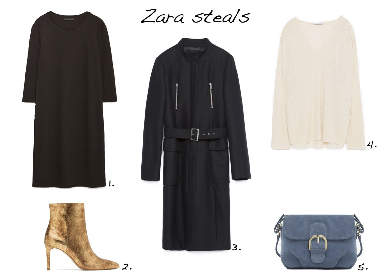82491f2deda Zara sale steals Zara Plush Dress Zara Shiny Leather High Heel Ankle Boots  Zara Funnel Coat