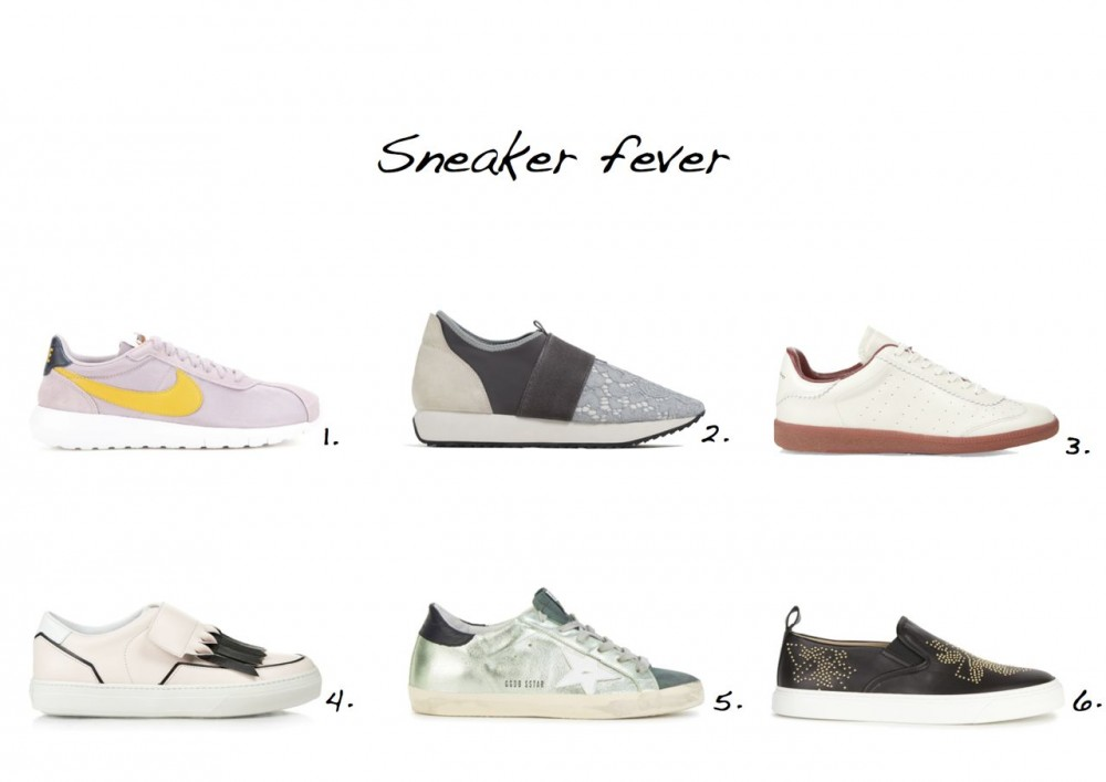 sneakers Nike W Roshe Sneakers Zara Lace Sneakers Isabel Marant Étoile Bryce Leather Trainers Tod's Frangia Velcro-fastening Leather Trainers Chloe Susannah Studded Leather Skate Shoes