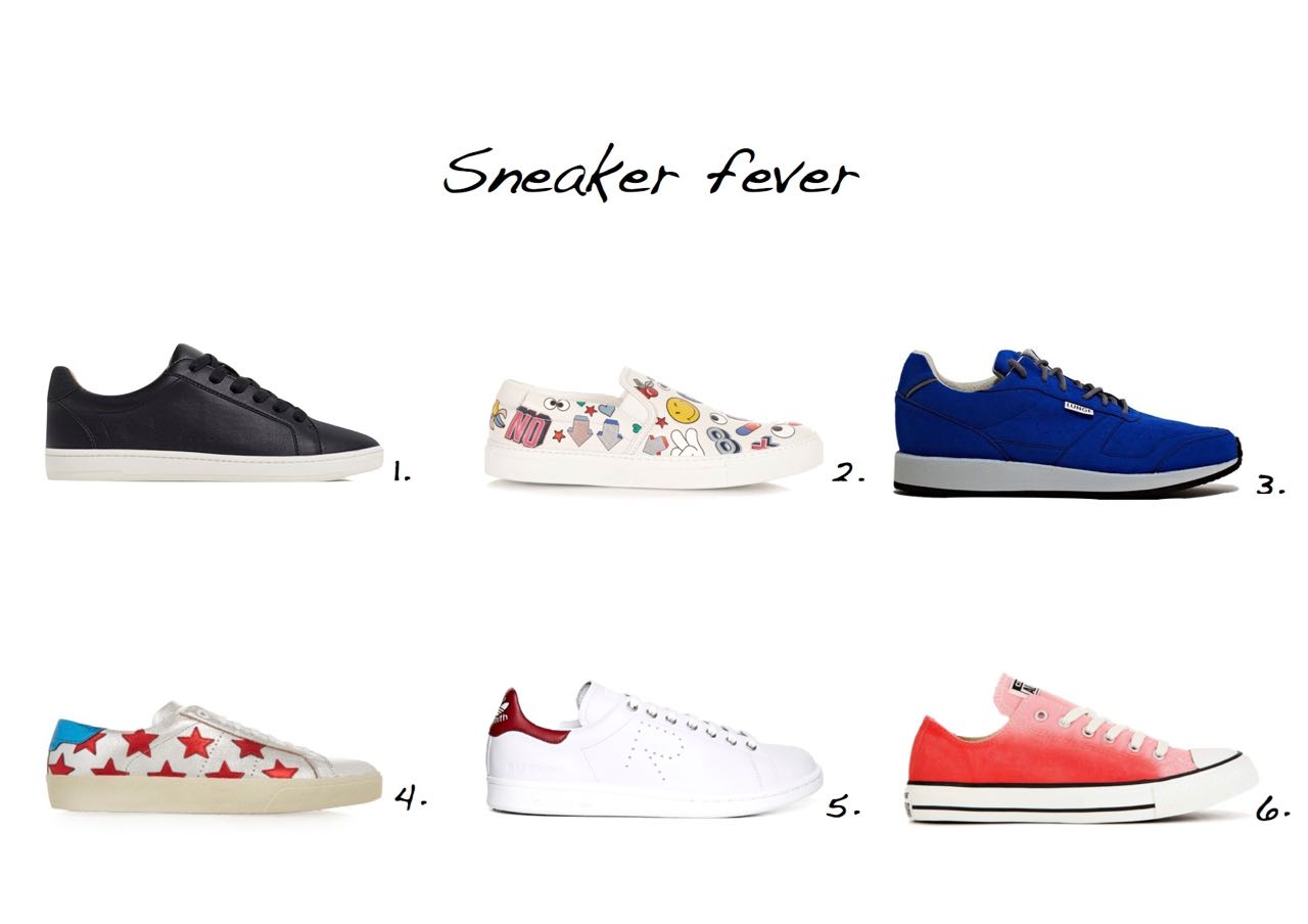 sneakers Zara Plimsolls With Laces Anya Hindmarch All Over Wink Leather Slip-On Sneakers Saint Laurent Star-Embellished Leather Sneakers Raf Simons x Adidas Stan Smith Sneakers