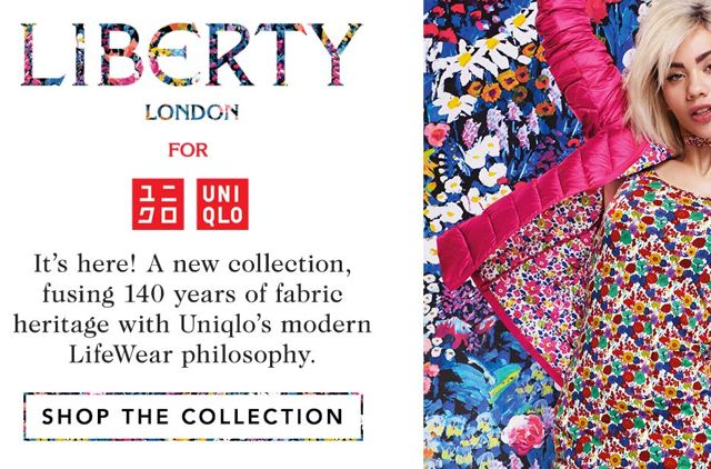 uniqlo x liberty london collection for uniqlo
