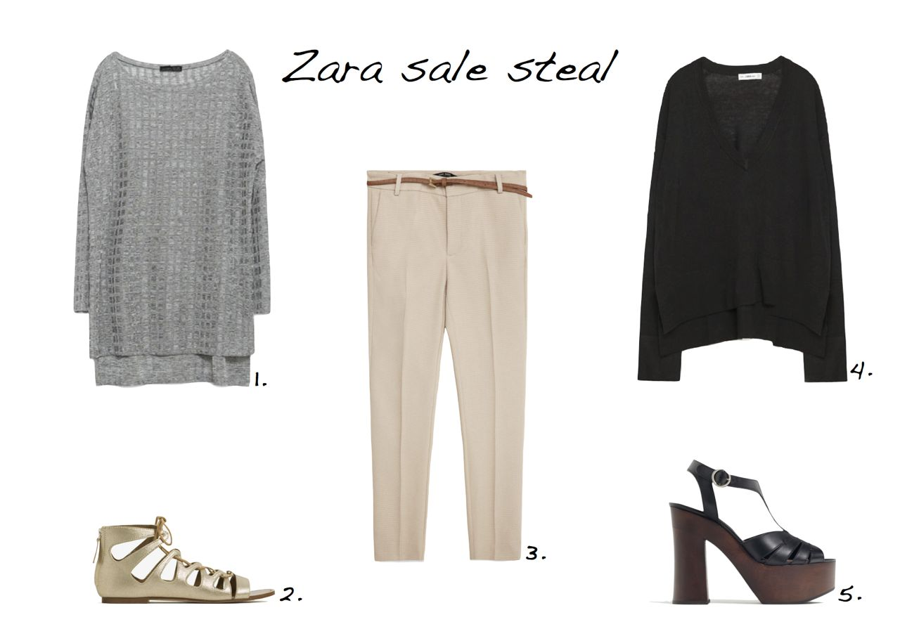 455cd0ecf07 Zara sale Zara Patterned Top Zara Flat Metallic Roman Sandals Zara Chino  Trousers Zara Oversized Sweater