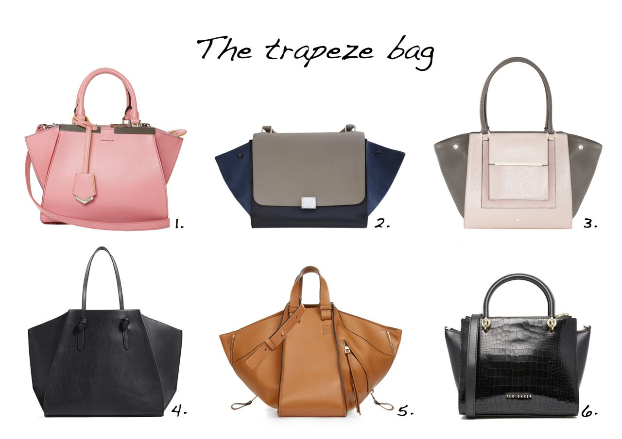 7645f16dc5 trapeze bag Fendi 3Jours Contrast-Trim Leather Tote Celine Trapeze Bag Zara  Geometric Tote Loewe