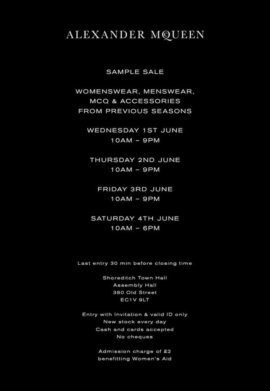 The June London Sample Sales Guide - Style Barista