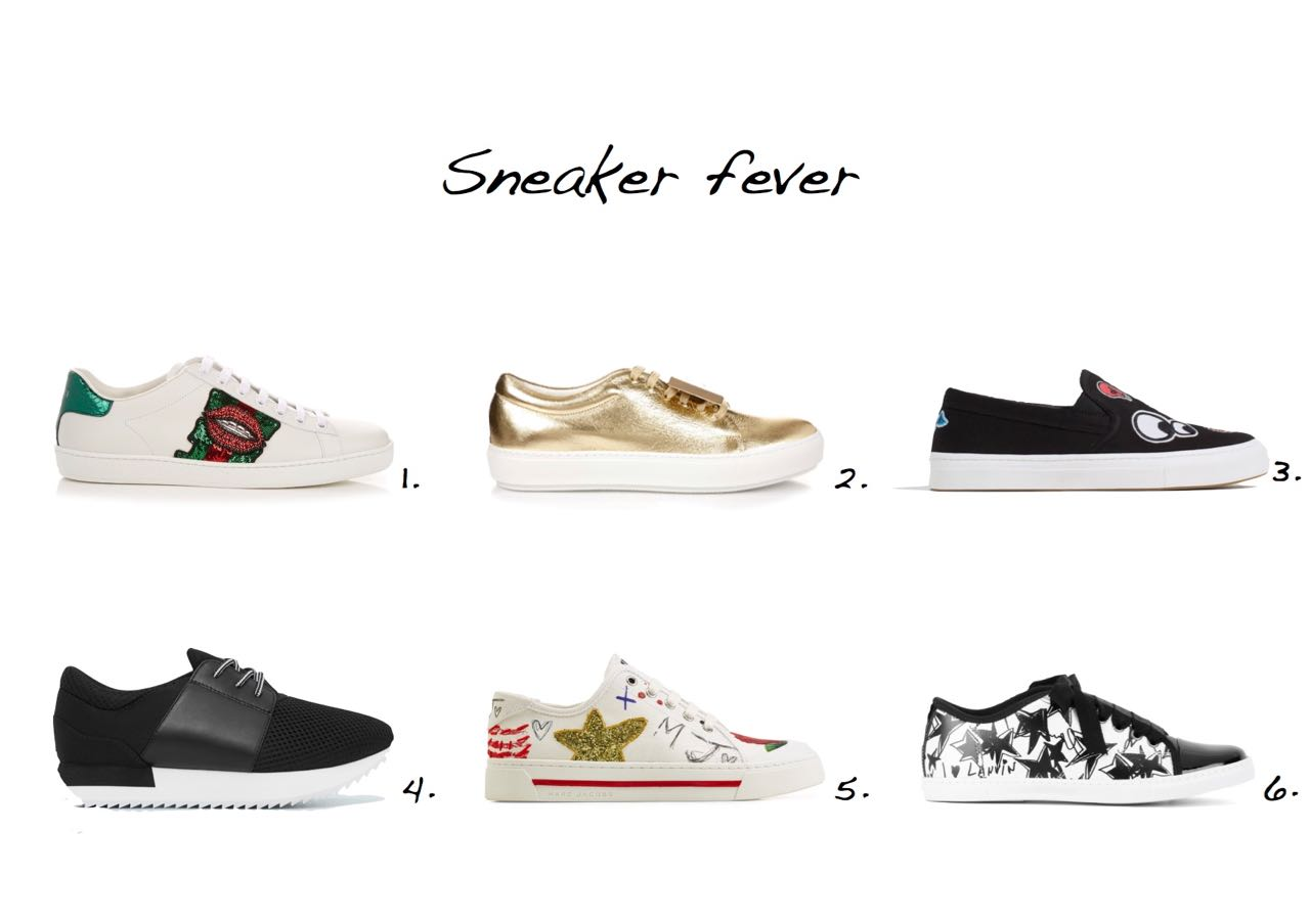 sneakers Gucci Sequin-Embroidered Low-Top Trainers Acne Studios Adriana Smile Metallic-Leather Trainers Zara Patch Plimsolls