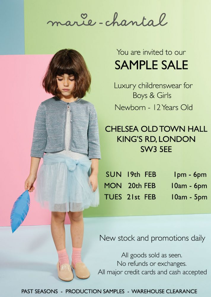 9bbec75f7df If there s one sample sale you should attend this month it s the Marie  Chantal sample sale. It s the perfect opportunity to stock up your  mini-me s wardrobe ...
