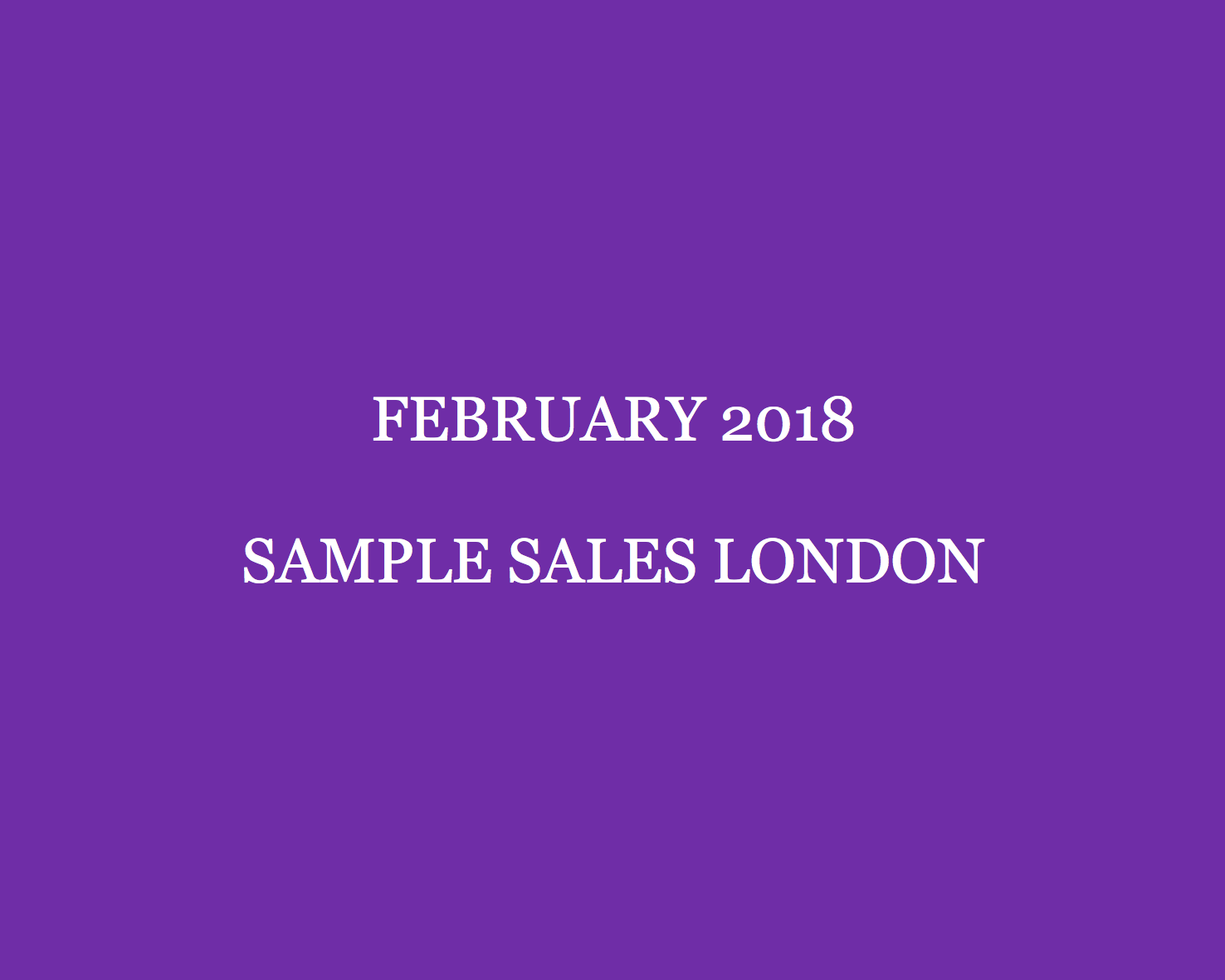 e363ae6466 Make sure to jot down the dates of the February London sample sales! With La  Perla